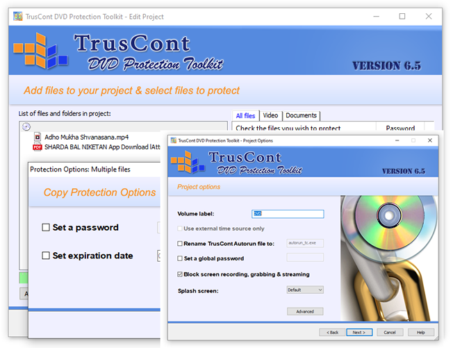 Copy Protection Software For CD and DVD